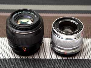 Vergleich Panasonic LEICA DG SUMMILUX 25mm/F1.4 ASPH gegen Olympus M.Zuiko digital 25mm f/1.8