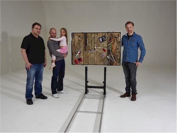 DAS TRUST YOUR EYES TEAM - Roland Rittau, Michael Quack und Robin Ochs (von links)