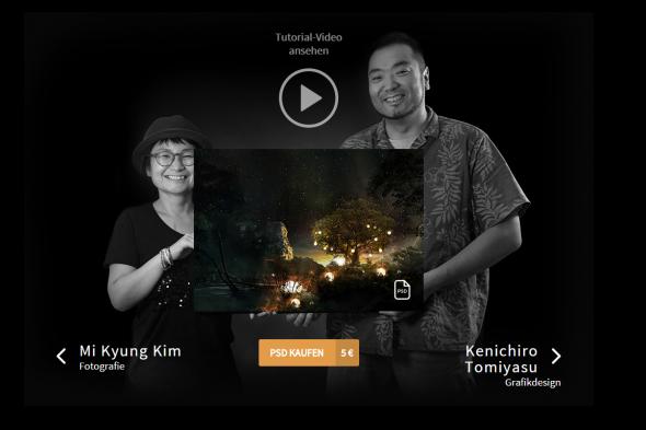 """Im November folgte mit """"Future of Shangri-La"""" das Staffelfinale – ein Artwork, mit dem uns die koreanische Fotografin Mi-Kyung Kim und der japanische Konzeptkünstler Kenichiro Tomiyasu (INEI Studio) die poetische Vision eines zukünftigen Paradieses schenkten."""