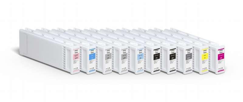 Das 10-Farbset des neuen Epson SureColor SC-P20000 (C,VM,Y, LVM, LC, MK, PK, DG, G, LG) bietet hohe Reproduktionsfähigkeit sowie lange Lebensdauer der Drucke.