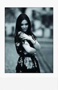 Model schwarzweiß monochrom Posing