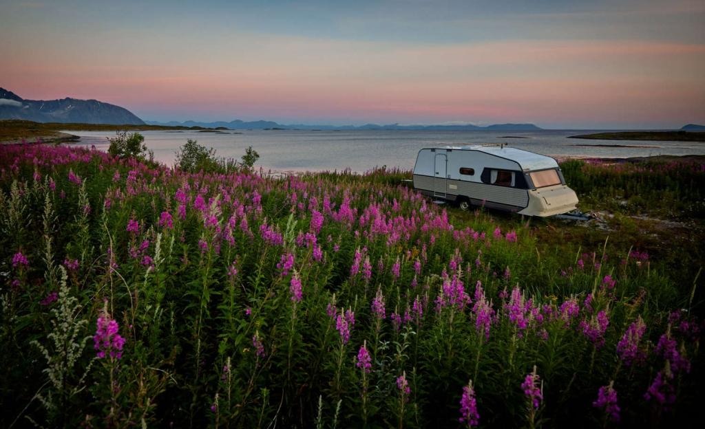Im goldenen Schnitt platziert – gut, dass ein Campingwagen mobil ist.