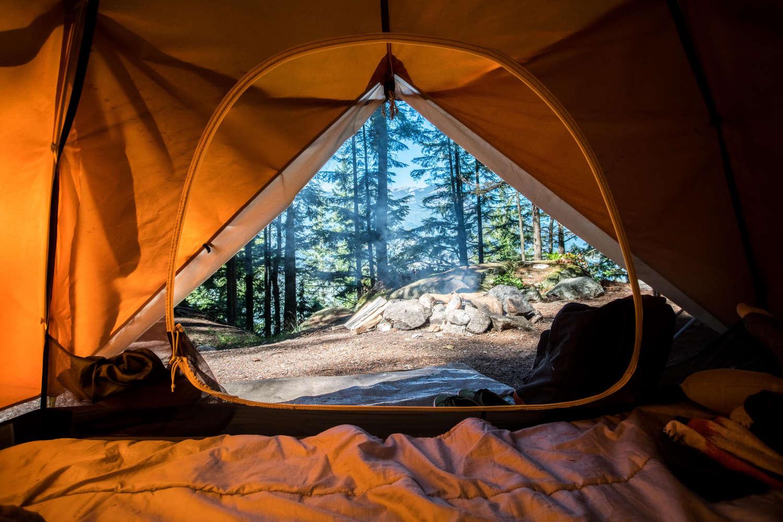 Der Blick aus dem Zelt