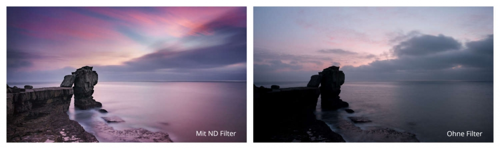 Mit und ohne ND Filter