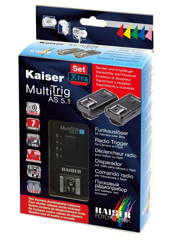 Funkauslöser-Set Xtra MultiTrig AS 5.1 für Kamera oder Blitz – Kaiser Fototechnik