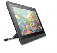 6_Cintiq 16_With optional stand_3quarter view front_holder