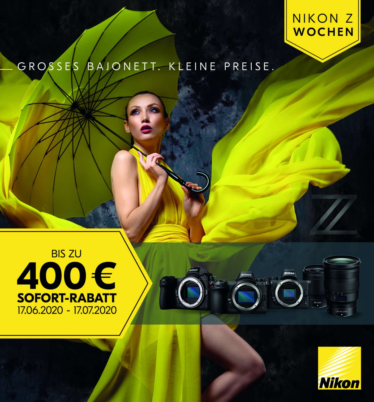 Nikon startet mit Sofort-Rabatt-Aktion in den Sommer