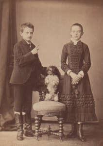F. A. Dahlström, Hundedressur, Hamburg, um 1880